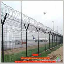 High strengthen and security Y type post low carbon steel wire airport fence