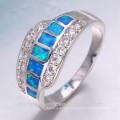 Élégant section design zircon gemstone 925 sterling silver ring pour les femmes