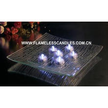 Bright White LED Waterproof Tea Lights / Plastic Submersibl
