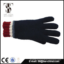 Custom design acrylic knit glove with logo