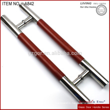 glass pull handle with veneer sticker