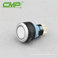 Interruptor de botón de luz indicadora momentánea o de bloqueo de plástico de 22 mm
