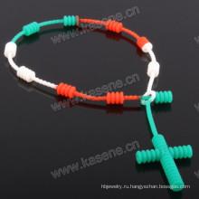 Подгонянный силиконовый цвет многоцветный резиновый браслет
