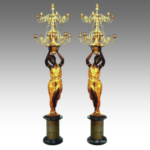 Kerzenhalter Statue Frauen Kerzenhalter Bronze Skulptur Tpch-045 & 046