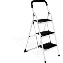 Red Household Indoor Steel 3 Steps Ladder