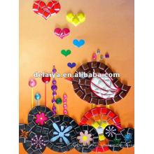 Детские DIY мозаика искусство для симпатичные черный-птица