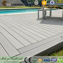 Anti-dérapant facile installer naturel effet extérieur pont bois plastique composite piscine couverture
