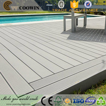 Anti-derrapante fácil instalar efeito natural ao ar livre deck de madeira cobertura de piscina de plástico composto