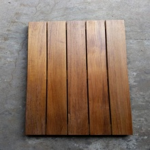 Smooth Surface Burma Teak Outdoor Deck Tiles