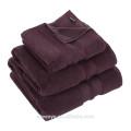 Toalla de hotel de color púrpura oscuro de lujo 100% algodón HO-021
