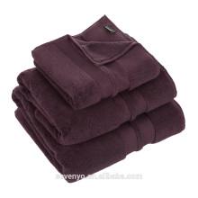 Serviette de luxe 100% coton de couleur pourpre foncé HO-021