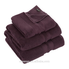 100% cotton luxury dark purple color hotel towel HO-021