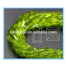 4 * 8mm verre rectangle perles perles de verre pour lustre