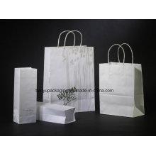 Sac papier Kraft et sac à provisions avec poignée en papier