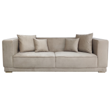 Modern Living room upholstered couch high elastic sponge home furniture 3 seater sofa