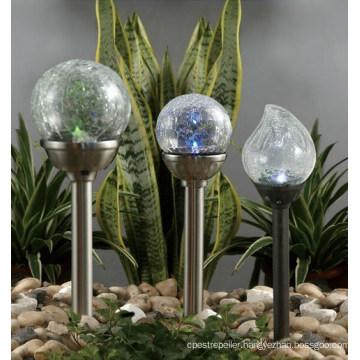 Glass Cover Waterproof Outdoor Solar Lawn Garden Lighting