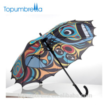Digital heat transfer printed Beijing opera Face customized Chinese Umbrella