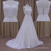 Chifffon Beading Dress Sweetheart Long Train Wedding Dress