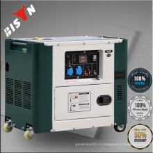 BISON Китай Taozhou 7KW Электрический старт AC Однофазный звукоизоляционный генератор для дома