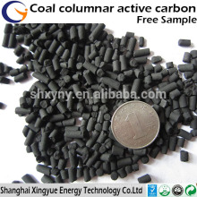 4mm coal based column activated carbon price for heavy metal removal