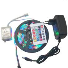300leds no impermeable RGB / Blanco / Blanco cálido / Bule / Rojo / Verde / Amarillo 5m SMD 3528 LED tira de luz con adaptador de corriente DC 12V 2A