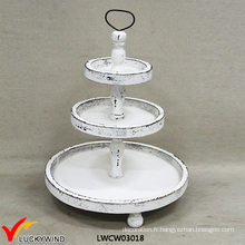 Shabby Chic Food Serving 3 Tier Plate Stand