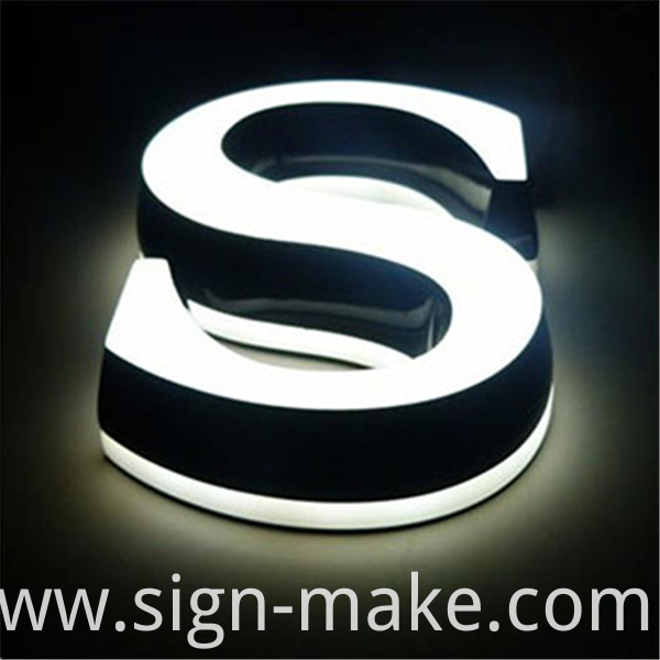 small acrylic led mini letters