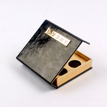Caja de empaquetado del sombreador de ojos de la paleta cosmética de encargo con magnético