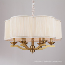 Lampe suspension en laiton avec écran tissu (SL2060-6)