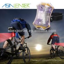 Азия Лидер Легко установить без инструментов Водонепроницаемость Питание от 2 * AAA батареи 3LED велосипед хвост свет