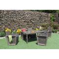 Patio Garden Poly Rattan 6 Pieces Dining Set