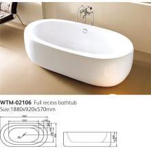 Baignoire sans couture acrylique, baignoire autoportante Wtm-02106