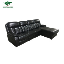 High Quality Real Leather Reclining Foldable Sofa Bed for Wholesaler