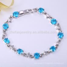 Sophia collection bijoux bracelets toujours mince ligne bleue bracelets
