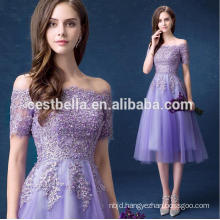 Hotsale Sweet Purple Bridesmaid Dress Off-Shoulder Chiffon fairy Prom Dresses