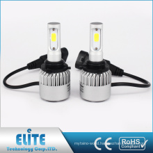 S2 series H1 H3 H7 H8 H10 H11 9005 9006 9012 Bridgelux COB LED Headlight Conversion Kit 8000lm 6500K Bulb