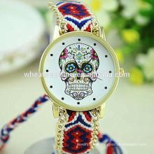 Relógio do esqueleto wooven handmade novo do projeto