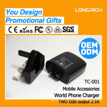 Wholesale world travel adapter ,2017 Longrich adapter factory travel plug for phone