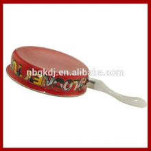 enamel red fry pan & enamel paint for cookware