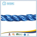 Haute qualité 3 brins Twisted PP Blue Rope