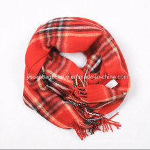 New Fashion Checked 100% Pashmina Shawl