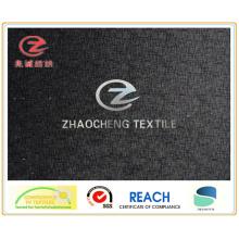 Tissu poly velours avec impression à rayures pour l'utilisation du vêtement (ZCGP066)