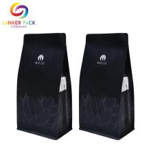 Saco de plástico de fundo quadrado de alta qualidade para café