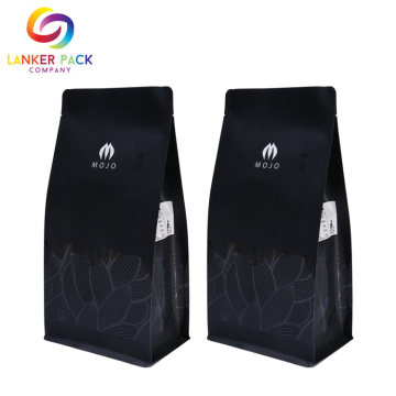 Custom Reusable Flat Bottom Ziplock Plastic Packaging Bag