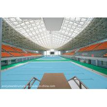 Quadro de aço do espaço do grande período / fardo de aço usado para a coberta do telhado da piscina