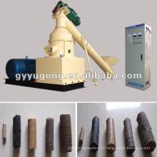 Machine à briqueterie de biomasse populaire utilisant des tiges de maïs