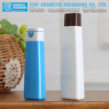 QB-FA serie 200ml 300ml hermosa HDPE plástico champú semicírculo triángulo forma botella reciclable