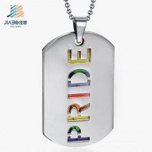 Etiqueta de perro de plata del metal de Deboss del metal del precio de fábrica de China para la promoción