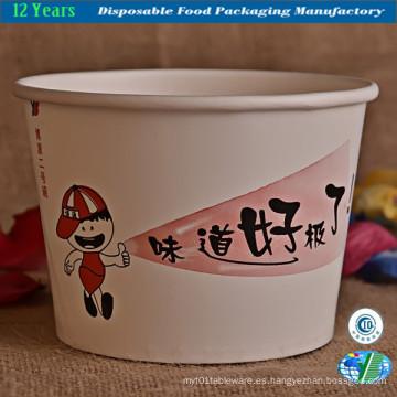 Contenedor de comida de papel desechable personalizado