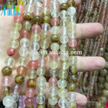 Natürliche Kirsche Mix Quarz Zirkonia Edelstein Perlen für Armband